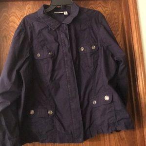 Navy blue plus size jacket